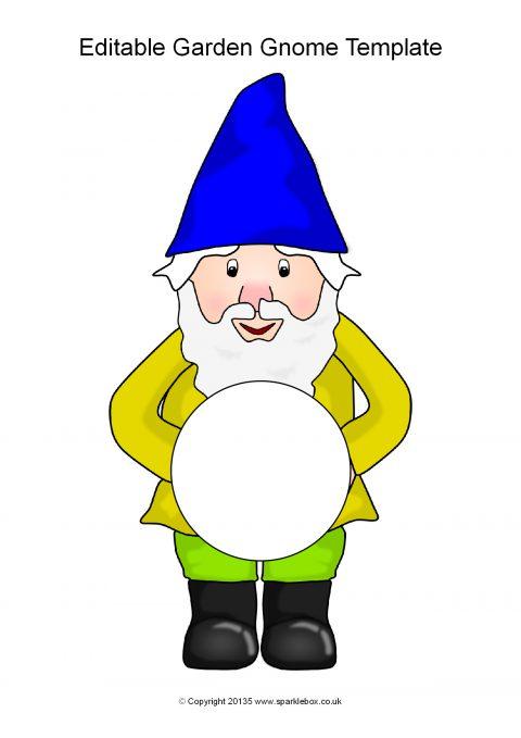 Editable Garden Gnome Templates SB11288 SparkleBox
