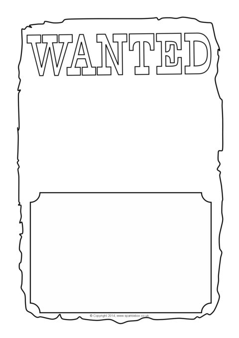 blank wanted poster writing frames