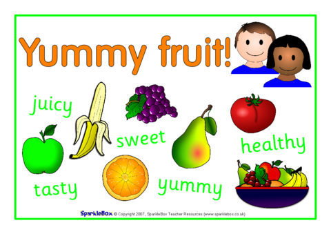 Fruit and Snack Mats and Posters SB830  SparkleBox