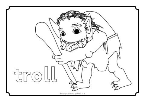 Three Billy Goats Gruff Colouring Sheets (SB10897