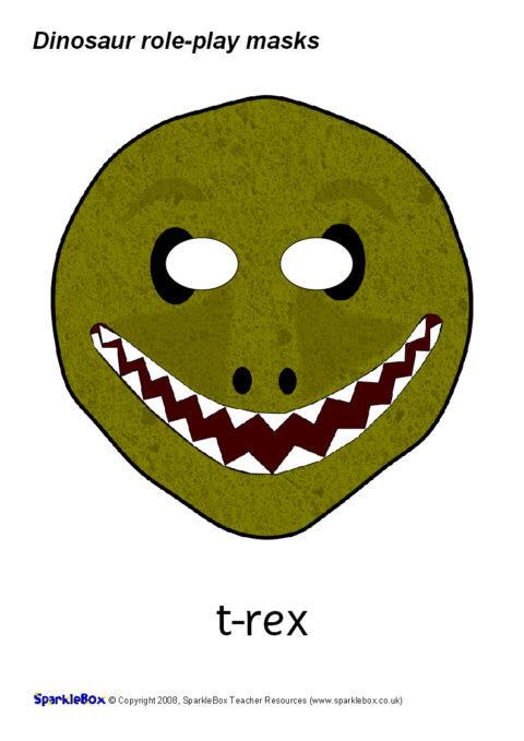 Dinosaur RolePlay Masks SB1352  SparkleBox