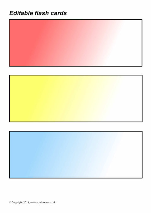 flash cards templates