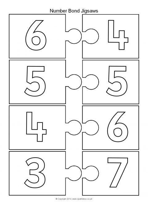 Number Bonds Making 10 Jigsaw Pieces