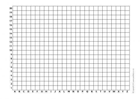 Simple Blank Coordinates Grids