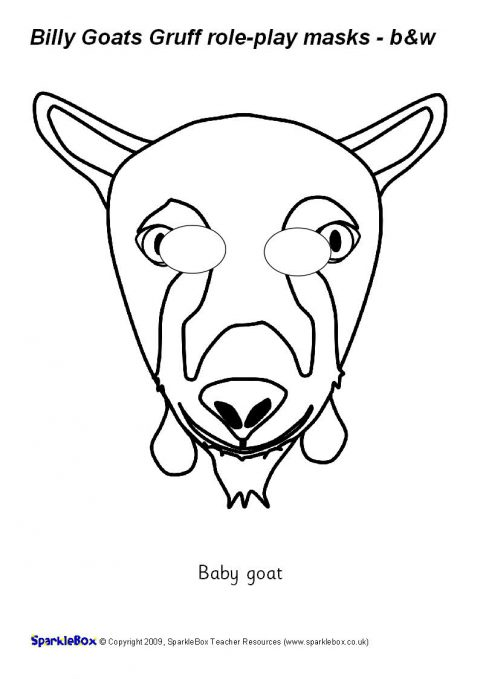Billy Goats Gruff Role-Play Masks