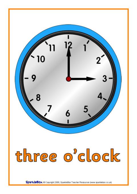 O'clock Time Posters (SB1428) - SparkleBox