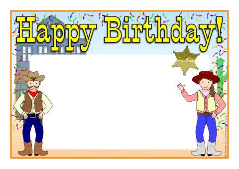 Editable Happy Birthday Posters Sb5061 Sparklebox
