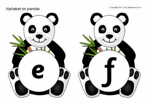 Alphabet On Pandas SB4352 SparkleBox