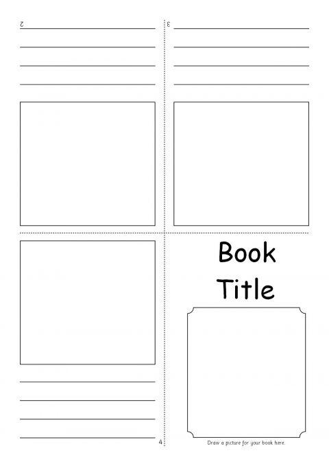 Editable Fold Over Mini Book Templates SB7366 SparkleBox