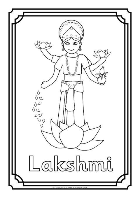 Hindu Gods Colouring Sheets Sb3276 Sparklebox