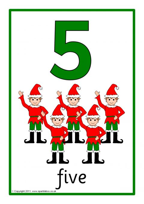 Christmas Number And Word Posters 1 20