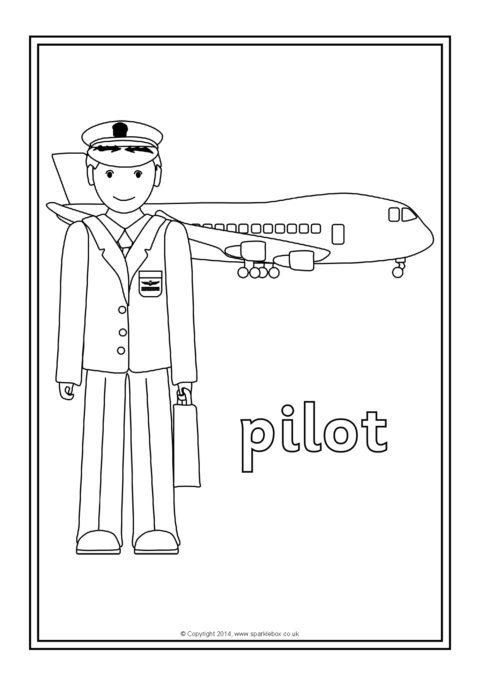Occupations Colouring Sheets