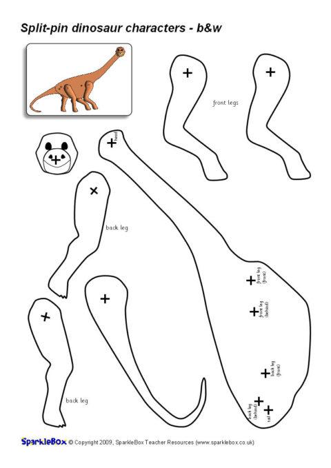 Split-Pin Dinosaur Characters