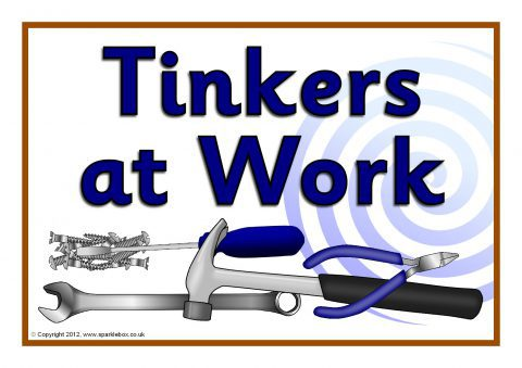 Tinkering Table Signs SB7652  SparkleBox