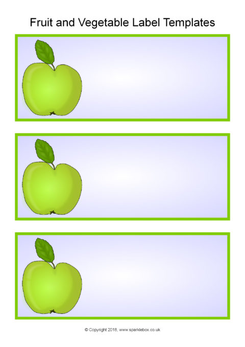 Fruit and VegetablesThemed Classroom Labels Templates