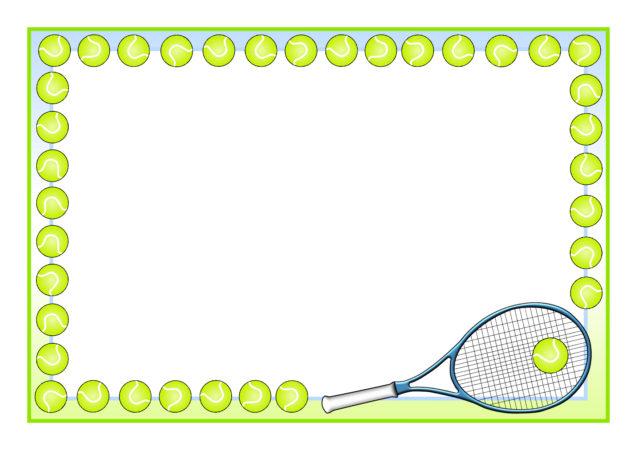 Tennis A4 Page Borders SB11017 SparkleBox