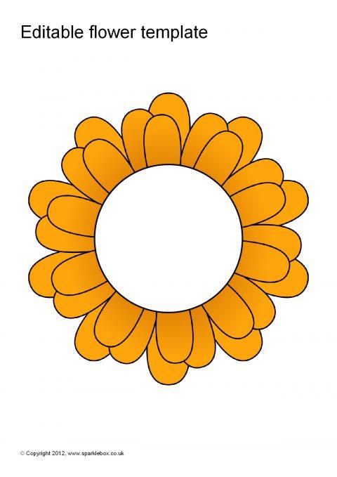 Editable Coloured Flower Templates