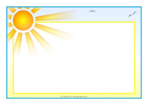 WeatherThemed A4 Page Borders  Landscape SB6478  SparkleBox