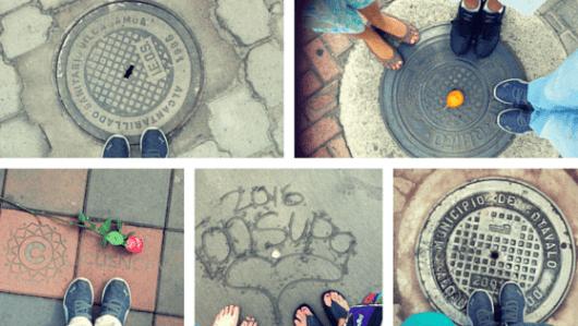 Our feet in Ecuador