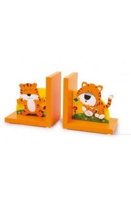 reggilibri-in-legno-con-leoni Fermalibri di design