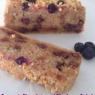 Coconut, Chocolate and Blueberry Easy Cake…(gluten free option)