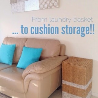 DIY Coastal Cushion Storage!