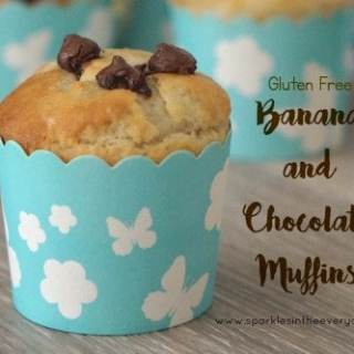 Easy Gluten Free Banana and Chocolate Muffins