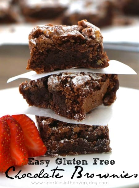 Easy Gluten Free Chocolate Brownies!!