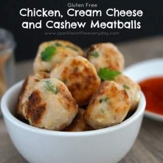 Chicken, Cream Cheese and Cashew Meatballs! (Gluten Free)