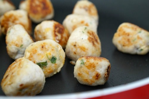 Cooking the Gluten Free Chicken, Cream Cheese and Cashew Meatballs