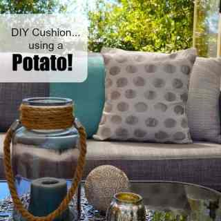 DIY Cushions…using a Potato!!!