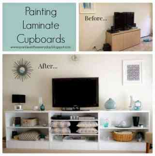 Yes…You Can Paint Laminate Furniture!!