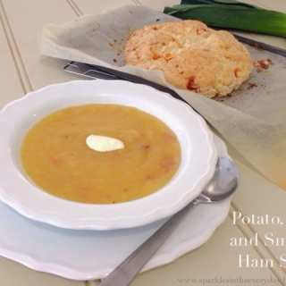 Potato, Leek and Smoked Ham Soup – A Family Favourite!