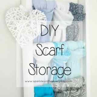 DIY Scarf Storage…Step by Step!