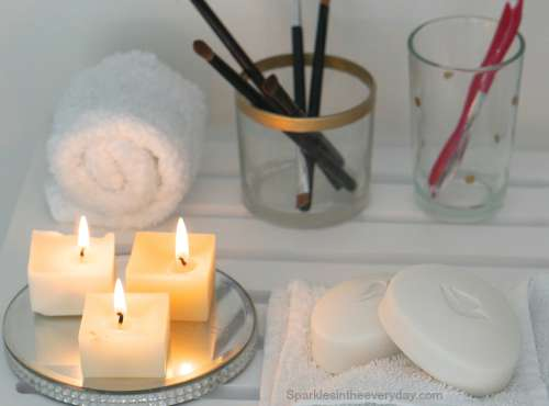 Bathroom candle glow-What to do with your old, used candles?
