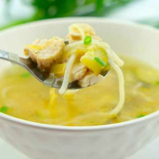 Spring Chicken and Caramelised Leek Soup