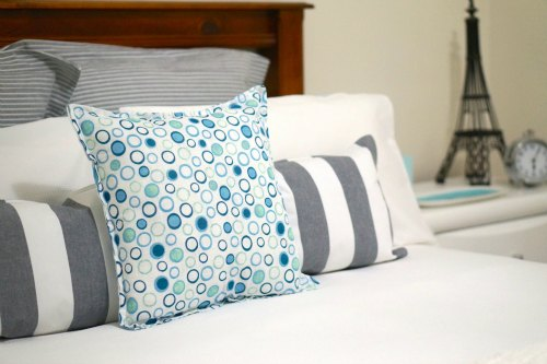 Cushions made with placemats and napkins