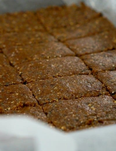Gluten Free Quinoa and Tahini Bars
