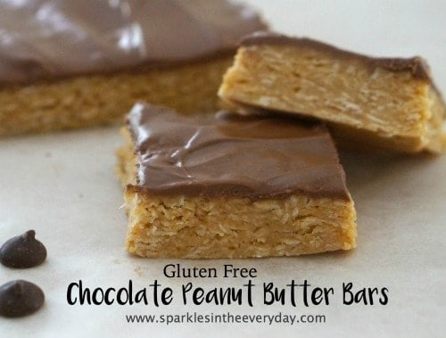Gluten Free Chocolate Peanut Butter Bars