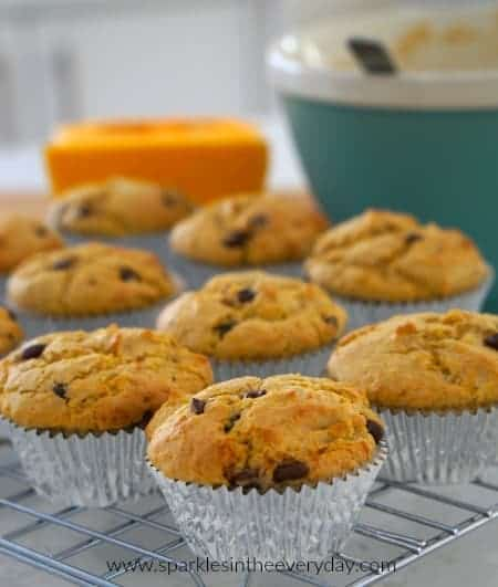 Delicious Australian Pumpkin and Chocolate Chip Muffins (GF)!