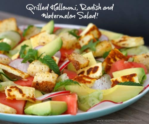 Grilled Halloumi, Radish and Watermelon Salad recipe!