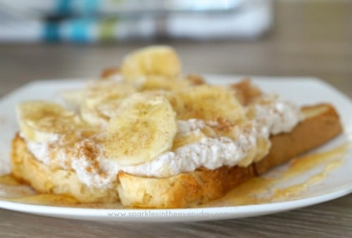 Healthy Breakfast Ricotta, Honey and Banana on gluten free Toast