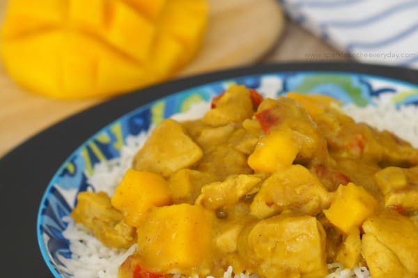 Gluten Free Easy Mango Chicken Curry Recipe