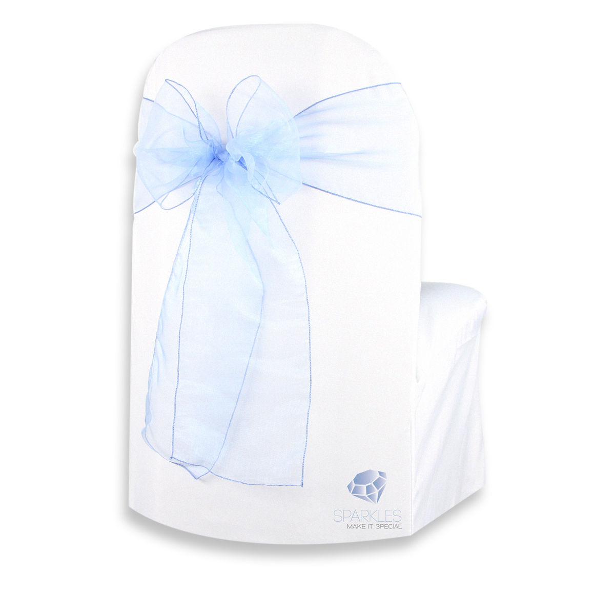pale blue chair covers air pump 50 pcs organza cover bow sash 108 quotx8 quot light