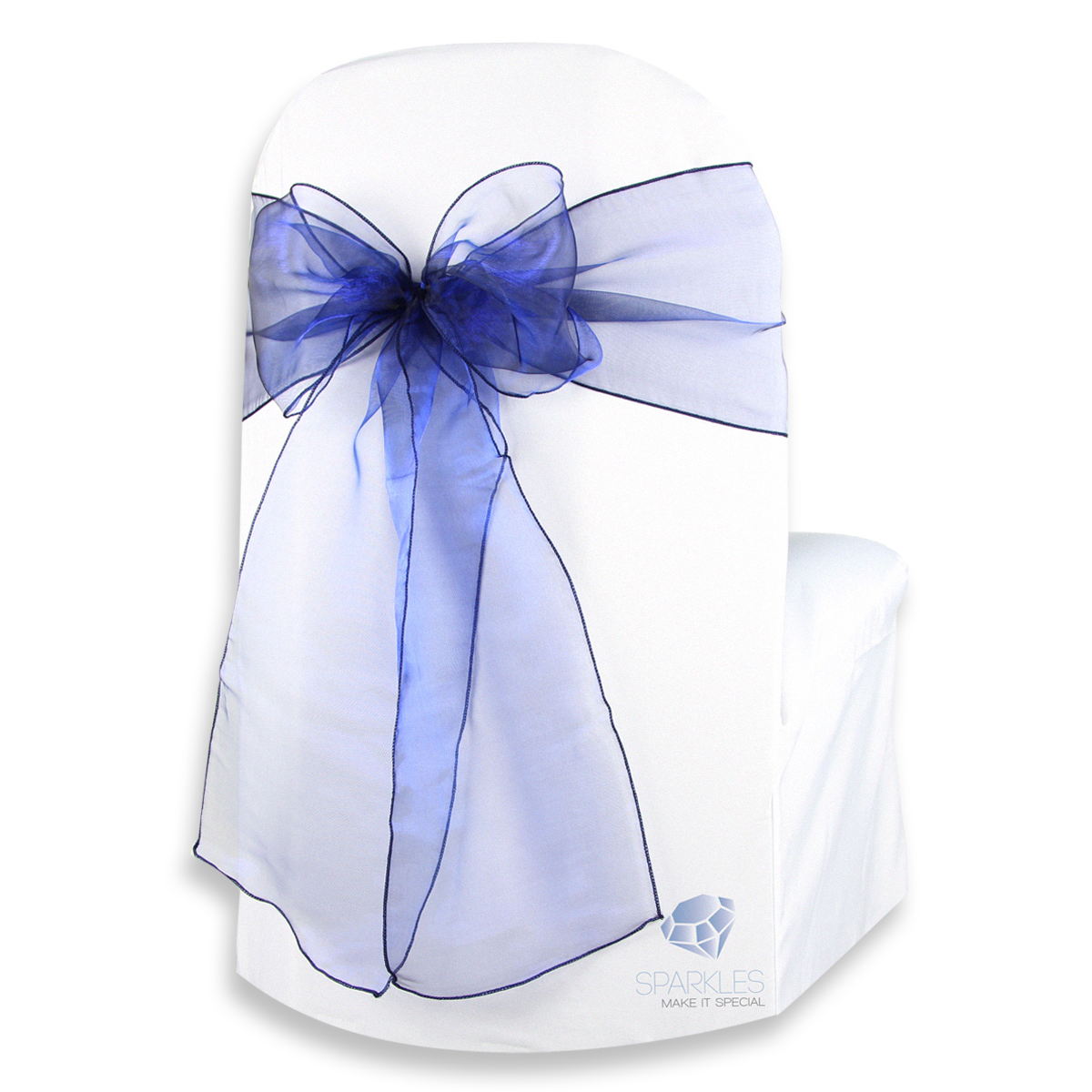 chair covers and bows ebay saddle office west elm 200 pcs organza cover bow sash 108 quotx8 quot navy blue