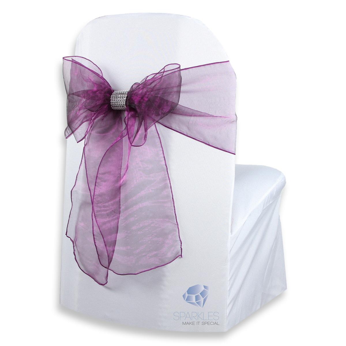 chair covers and bows ebay adult bath 100 pcs organza cover bow sash 108 quotx8 quot plum purple