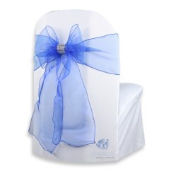 Chair Covers And Bows Bridgend Folding Upholstered 200 Pcs Organza Cover Bow Sash 108 Quotx8 Quot Royal Blue