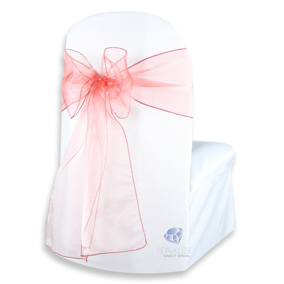 diy organza chair covers small bean bag chairs for toddlers 50 pcs cover bow sash 108 quotx8 quot wedding party