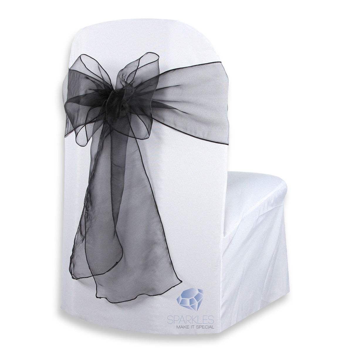 organza wedding chair sashes lazy boy office replacement parts 150 pcs cover bow sash 108 quotx8 quot party