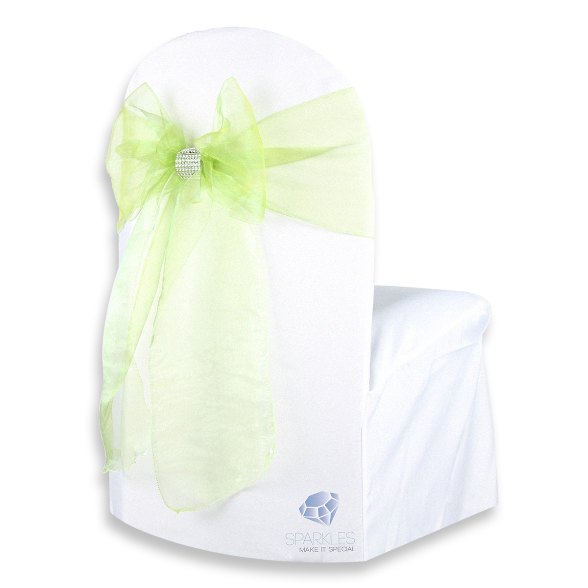 organza wedding chair sashes bedroom reading 50 pcs cover bow sash 108 quotx8 quot party